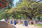 Hula Halau, May Day, Kapiolani Park, Waikiki, Oahu, Hawaii