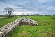 view of the Hadrian's wall near Brampton