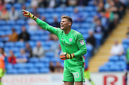 Cardiff city  goalkeeper Ben Wilson looks on.  EFL Skybet championship match, Cardiff city v Reading at the Cardiff city stadium in Cardiff, South Wales on Saturday 27th August 2016.<br /> pic by Andrew Orchard, Andrew Orchard sports photography.