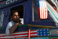 Nepalese truck driver in Kathmandu after our Himalayan Heroes motorcycling adventure, Nepal. Saturday, November 17, 2018. Photography ©2018 Michael Lichter.