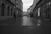 Regent Street, just off of the Cheltenham High Street, is completely empty of shoppers during the national lockdown in November.