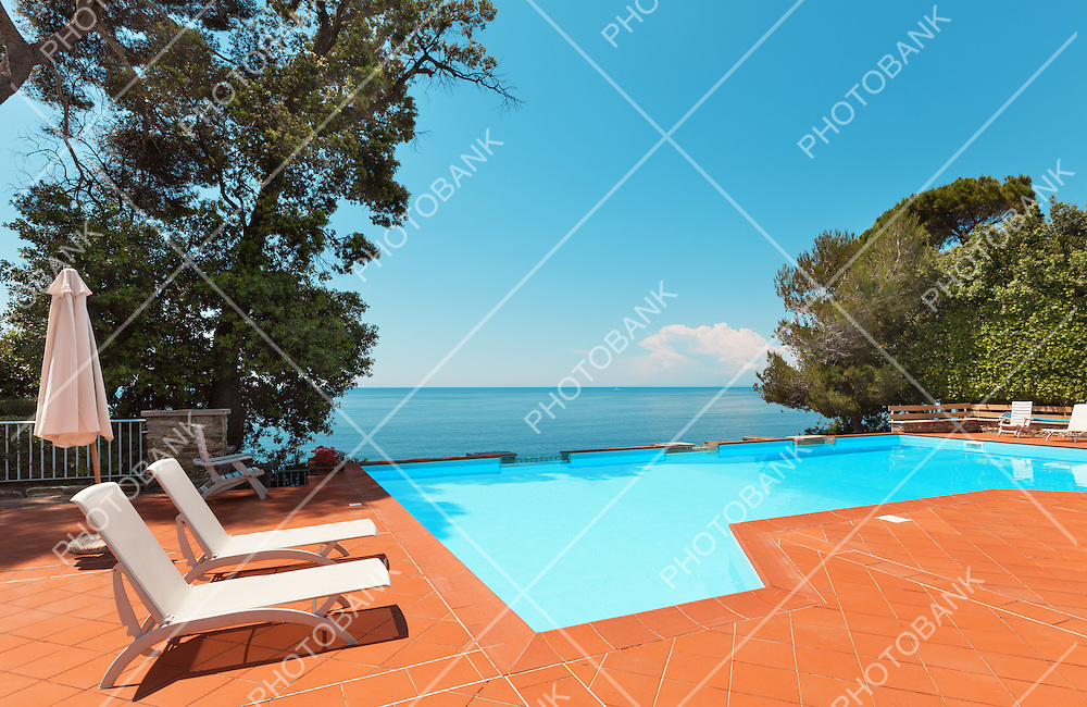 residence by the sea, view of the pool