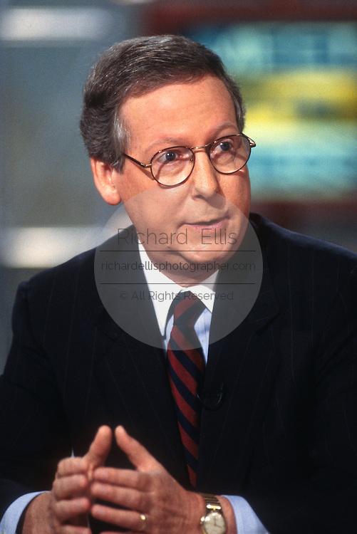 """WASHINGTON, DC - September 21: Senator Mitch McConnell on """"Meet The Press"""" in Washington, DC. September 21, 1997  (Photo RIchard Ellis)"""