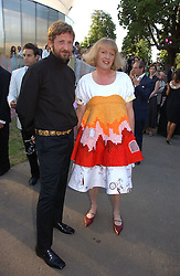 Left to right, STEFANO PILATI and GRAYSON PERRY at the Serpentine Gallery Summer party sponsored by Yves Saint Laurent held at the Serpentine Gallery, Kensington Gardens, London W2 on 11th July 2006.<br /><br />NON EXCLUSIVE - WORLD RIGHTS