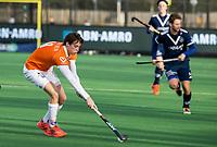 BLOEMENDAAL -  Casper van der Veen (Bldaal).  .oefenwedstrijd hockey heren, Bloemendaal H1- Pinoke H1 (3-2).  COPYRIGHT KOEN SUYK