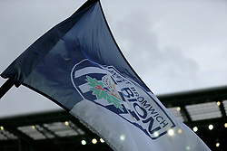 A West Bromwich Albion flag is waved prior to kick off - Mandatory by-line: Paul Roberts/JMP - 16/09/2017 - FOOTBALL - The Hawthorns - West Bromwich, England - West Bromwich Albion v West Ham United - Premier League