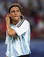 Hamburg 10/6/2006 World Cup 2006<br /> <br /> Argentina Cote d'Ivoire - Argentina Costa d'Avorio 2-1<br /> <br /> Photo Andrea Staccioli Graffitipress<br /> <br /> Hernan Crespo of Argentina