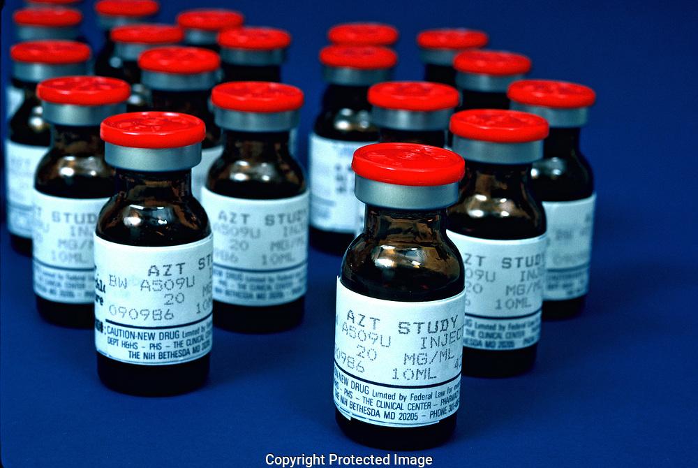 AZT, The battle against AIDS<br />Photo by Dennis Brack