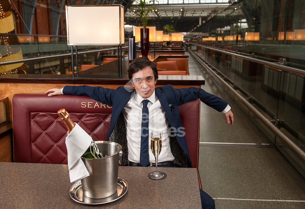 Picture by Daniel Hambury. .18/12/12.Dexter Koh pictured at Searcys Champagne Bar, St Pancras, London.