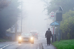 © Licensed to London News Pictures. 07/12/2020. <br /> Crockenhill, UK. Cold foggy weather today in Crockenhill, Kent. The Met Office has issued a yellow weather warning for the UK from the South coast to the Midlands for freezing foggy weather conditions with low visibility in some places. Photo credit:Grant Falvey/LNP