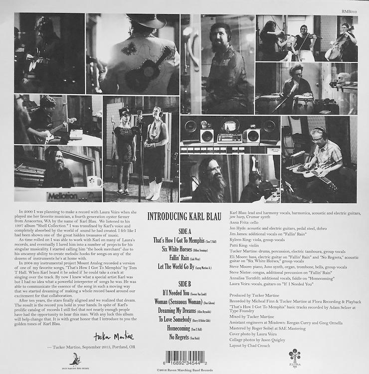 "Karl Blau, ""Introducing Karl Blau"" album back photos."