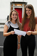 13/08/2019 Repro Free: Emily Macken who got  590  points and hopes to do Bio-Med  in NUIG and Ellen Phillips (576 points and hopes to do  law and business)  received their Leaving Certificate Results from Yeats College in Galway City. Photo:Andrew Downes, xposure.