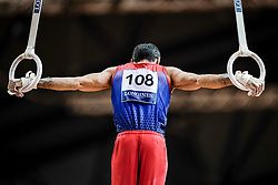 November 2, 2018 - Doha, Qatar - Vahagn Davtyan of Armenia   during  Rings for Men at the Aspire Dome in Doha, Qatar, Artistic FIG Gymnastics World Championships on 2 of November 2018. (Credit Image: © Ulrik Pedersen/NurPhoto via ZUMA Press)