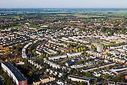 Nederland, Utrecht, Gemeente Amersfoort, 03-10-2010; huizen in de nieuwbouwwijk Kattenbroek. midden rechts het kerkje van Hoogland..Housing and house in the new district Kattenbroek..luchtfoto (toeslag), aerial photo (additional fee required) foto/photo Siebe Swart