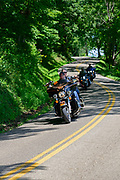 Motorcycles in Hocking Hills.