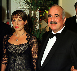 TRH PRINCE & PRINCESS MOHAMMED BIN TALAL OF JORDAN, at a reception in London on 17th November 1999.MZC 58