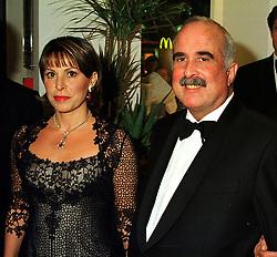 TRH PRINCE & PRINCESS MOHAMMED BIN TALAL OF JORDAN, at a reception in London on 17th November 1999.MZC 58