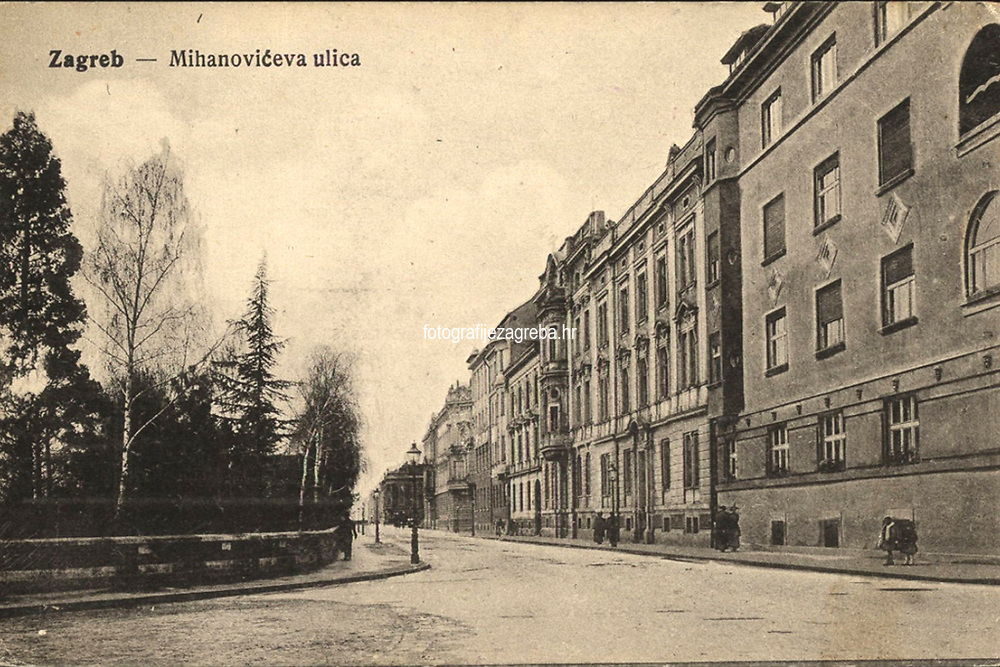 Zagreb : Mihanovićeva ulica. <br /> <br /> ImpresumS. l. : S. n., [između 1905 i 1918].<br /> Materijalni opis1 razglednica : tisak ; 9 x 13,8 cm.<br /> Vrstavizualna građa • razglednice<br /> ZbirkaGrafička zbirka NSK • Zbirka razglednica<br /> Formatimage/jpeg<br /> PredmetZagreb –– Ulica Antuna Mihanovića<br /> SignaturaRZG-MIH-18<br /> Obuhvat(vremenski)20. stoljeće<br /> NapomenaRazglednica je putovala.<br /> PravaJavno dobro<br /> Identifikatori000955199<br /> NBN.HRNBN: urn:nbn:hr:238:530467  <br /> <br /> Izvor: Digitalne zbirke Nacionalne i sveučilišne knjižnice u Zagrebu