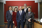 SHOT 1/8/19 12:23:32 PM - Bachus & Schanker LLC lawyers James Olsen, Maaren Johnson, J. Kyle Bachus, Darin Schanker and Andrew Quisenberry in their downtown Denver, Co. offices. The law firm specializes in car accidents, personal injury cases, consumer rights, class action suits and much more. (Photo by Marc Piscotty / © 2018)