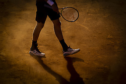May 3, 2018 - Estoril, Portugal - Kevin Anderson from South Africa waits for the dust to calm down during the Millennium Estoril Open tennis tournament in Estoril, outskirts of Lisbon, Portugal on May 1, 2018  (Credit Image: © Carlos Costa/NurPhoto via ZUMA Press)