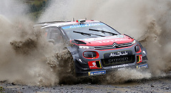 Citroen's Craig Breen on the Sweet Lamb stage during day three of the DayInsure Wales Rally GB.