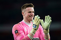 Lincoln City's Paul Farman applauds the fans at full time  <br /> <br /> <br /> Photographer Craig Mercer/CameraSport<br /> <br /> The Emirates FA Cup Sixth Round - Arsenal v Lincoln City - Saturday 11th March 2017 - The Emirates - London<br />  <br /> World Copyright © 2017 CameraSport. All rights reserved. 43 Linden Ave. Countesthorpe. Leicester. England. LE8 5PG - Tel: +44 (0) 116 277 4147 - admin@camerasport.com - www.camerasport.com