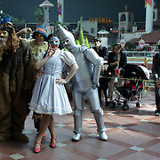 The daytime parade show showing Wizard of Oz characters at Lotte World. Lotte World is the world's largest indoor theme park which includes shopping malls, a luxury hotel, and an Ice rink. Opened on July 12, 1989, Lotte World receives over 8 million visitors each year. Seoul, South Korea. 21st March 2012. Photo Tim Clayton