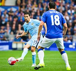 Jesus Navas of Manchester City in action - Mandatory byline: Matt McNulty/JMP - 07966386802 - 23/08/2015 - FOOTBALL - Goodison Park -Everton,England - Everton v Manchester City - Barclays Premier League