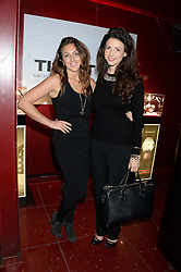 Left to right, NATASHA CORRETT and SHIRLEY LEIGH WOOD-OAKES at a party to celebrate the 160th anniversary of Tissot held at the Supperclub, 12 Acklam Road, London, W10 on 17th October 2013.