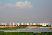 The high rise blocks of Rajuk Uttara Apartment Project in section 16 of Uttara residential model town district on the 30th of September 2018 in Dhaka, Bangladesh. Agricultural land is slowly being taken over in the districts around Dhaka for housing development.  (photo by Andrew Aitchison / In pictures via Getty Images)