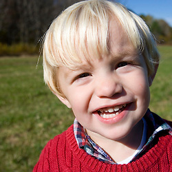 A happy young boy on the Common Pasture in Newburyport, MA.