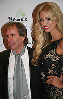 Chris De Burgh and Rosanna Davison at the Lincoln film premiere Savoy Cinema in Dublin, Ireland. Sunday 20th January 2013.