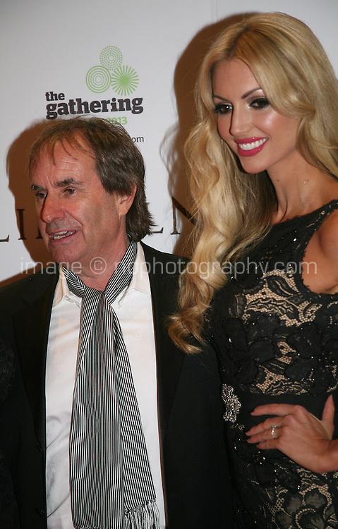Chris De Burgh and Rosanna Davison at the Lincoln film premiere Savoy Cinema in Dublin, Ireland. Sunday 20th January 2013.
