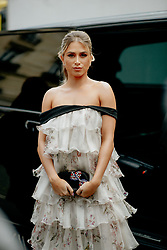 Street style, Maria Zulay Pogba Salaues arriving at Giambattista Valli Spring Summer 2022 show, held at Musee Art Moderne, Paris, France, on October 4, 2021. Photo by Marie-Paola Bertrand-Hillion/ABACAPRESS.COM