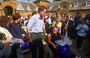 The Earl Spencer, brother to Diana Princess of Wales, meets the public allowed in to the family ancestral home, Althorp, the year after his sisters death in 1997, on 21st May 1998, in Althorp, Northamptonshire, England.