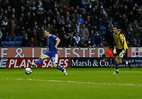 Photo: Steve Bond/Richard Lane Photography. Leicester City v Peterborough United. Coca-Cola Football League One. 20/12/2008. Matty Fryatt (L) goes past keeper Joe Lewis to score no2