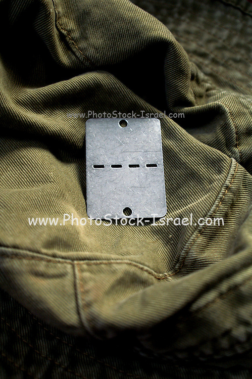 Israeli military uniform and dogtag