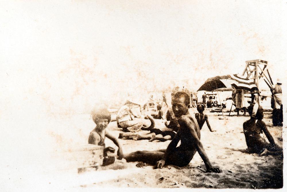 at the beach Japan ca 1930s