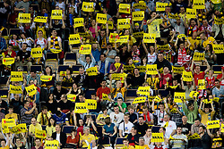 Fans of Skra Belchatow at  match for 3rd place of CEV Indesit Champions League FINAL FOUR tournament between PGE Skra Belchatow, POL and ACH Volley Bled, SLO on May 2, 2010, at Arena Atlas, Lodz, Poland.  (Photo by Vid Ponikvar / Sportida)