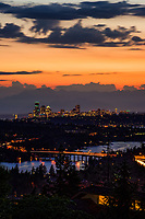 Seattle Skyline & Lake Washington, Blue Hour