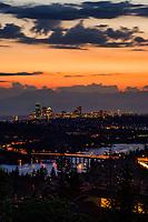 Seattle Skyline & Lake Washington, Blue Hour