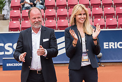 Christer Hult and Nina Wennerström at the 2017 WTA Ericsson Open in Båstad, Sweden, July 30, 2017. Photo Credit: Katja Boll/EVENTMEDIA.