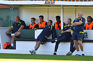 Burton Albion manager Nigel Clough in the dugout during the EFL Sky Bet League 1 match between Plymouth Argyle and Burton Albion at Home Park, Plymouth, England on 20 October 2018.
