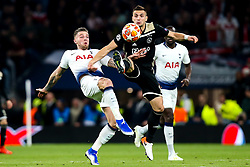 Dusan Tadic of Ajax challenges Toby Alderweireld of Tottenham Hotspur - Mandatory by-line: Robbie Stephenson/JMP - 30/04/2019 - FOOTBALL - Tottenham Hotspur Stadium - London, England - Tottenham Hotspur v Ajax - UEFA Champions League Semi-Final 1st Leg