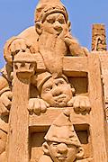 3 dwarves Sand sculpture festival on the Haifa beach, July 2006