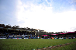 A general view of the Adams Park pitch after the final Wasps match - Photo mandatory by-line: Patrick Khachfe/JMP - Mobile: 07966 386802 14/12/2014 - SPORT - RUGBY UNION - High Wycombe - Adams Park - Wasps v Castres Olympique - European Rugby Champions Cup