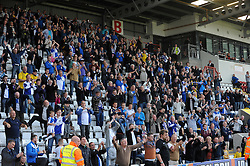 Bristol Rovers fans enjoy the win - Mandatory byline: Neil Brookman/JMP - 07966 386802 - 03/10/2015 - FOOTBALL - Globe Arena - Morecambe, England - Morecambe FC v Bristol Rovers - Sky Bet League Two