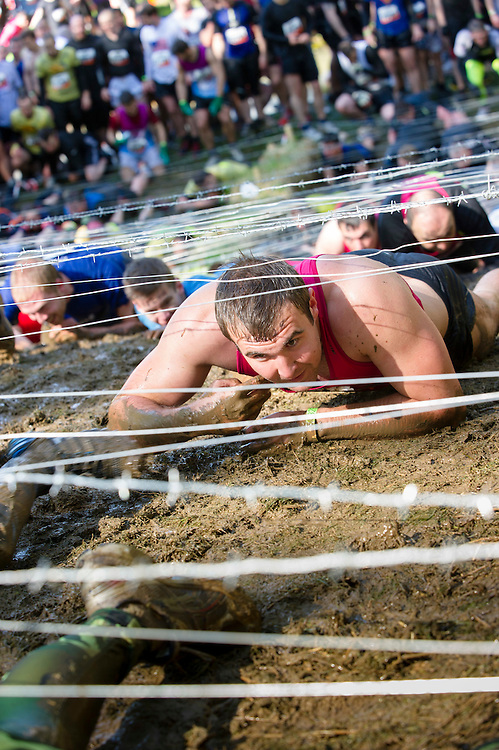 Tough Mudder - May 2012 - Northamptonshire - Crawl under Barbed wire