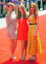 © Licensed to London News Pictures. 24/07/2011. London, England.L-R Sarah Harding , Kimberley Walsh and Nicole Roberts  attends the World premiere of Horrid Henry at the BFI on Londons Southbank. Photo credit : ALAN ROXBOROUGH/LNP