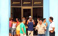 "Line-up at ""La Americana"" in Ciego de Avila, Cuba."